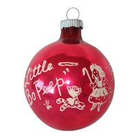 Shiny Brite Little Bo Peep Nursery Rhyme Christmas Ornament