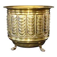 English Brass Footed Jardiniere Never Used