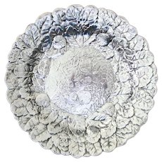 Reed And Barton Silverplate Strawberries Leaves Bowl