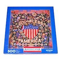 Americana Springbok Jigsaw Puzzle Patriotic Collage