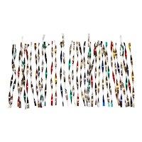 30 Diamond Ray Twisted Metal Icicles Christmas Ornaments