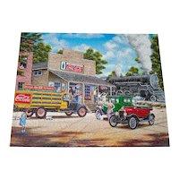 All Aboard Coca Cola Train Springbok Jigsaw Puzzle
