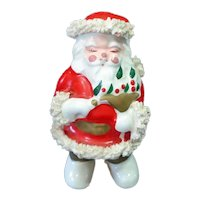 Ceramic Spaghetti Santa Claus With Dove Christmas Figurine
