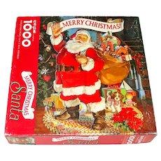 Merry Christmas Santa Springbok 1000 Piece Puzzle