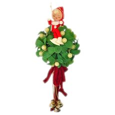 Christmas Pixie Elf Hanging Kissing Ball Decoration