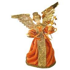 Koestel Wax Face Angel Christmas Tree Topper in Box