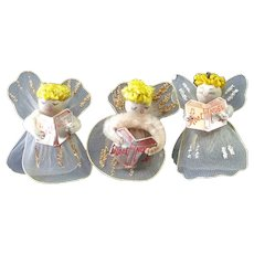 Wired Tulle Chenille Christmas Angel Ornaments