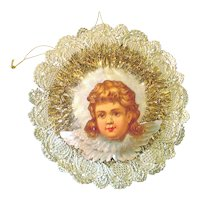 Angel Paper Scrap Tinsel Christmas Ornament