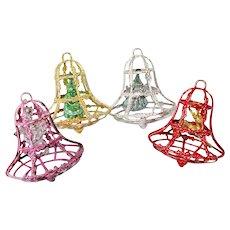 Bradford Plastic Bell Ornaments Figures Inside