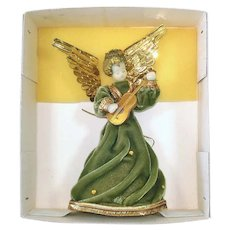 Koestel Christmas Angel With Guitar Tree Topper in Box