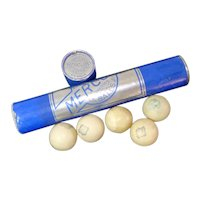 1930s Tube Mercury Celluloid Table Tennis Balls