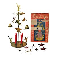 Jingle Abra Swedish Brass Christmas Angel Reindeer Candle Chimes
