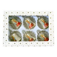 Box Madonna and Child Glass Bell Christmas Ornaments