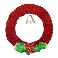 Red Brush Hinoki Christmas Wreath Bell Holly