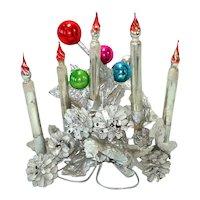 Mercury Glass Candle Pinecones Christmas Centerpiece Display