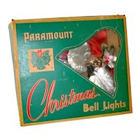 Paramount 1950s Lighted Christmas Bell Cluster in Box
