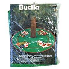 Bucilla Santas Journey Beaded Stitchery Christmas Tree Skirt Kit