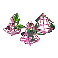 1950s Bradford Mistletoe Kissing Bell Christmas Ornaments