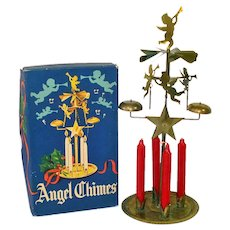 Box Swedish Brass Angel Christmas Candle Chimes With Candles