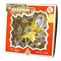 Bradford Mini Lighted Star Christmas Tree Topper in Box