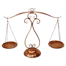 Gregorian Solid Copper Decorative Balance Scales