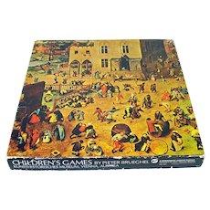 Children's Games Pieter Brueghel, 1969 Springbok Fine Art Puzzle
