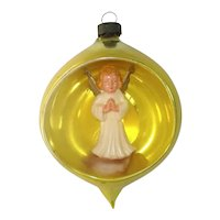 Italy Angel Diorama Indent Scene Glass Christmas Ornament