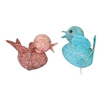 Mica Glitter Bird Christmas Candy Container Ornaments