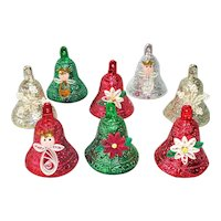 Plastic Bell Christmas Ornaments Quilled Paper Decoration