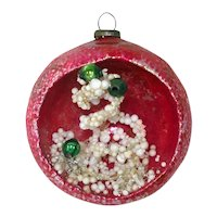 Snowy Tree Glass Diorama Indent Scene Christmas Ornament