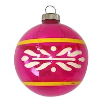 Shiny Brite Unsilvered Painted Christmas War Ornament
