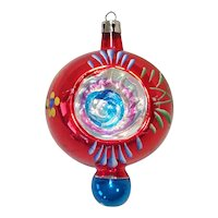 Poland Fancy Double Indent Finial Glass Christmas Ornament