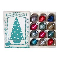 Box Shiny Brite Small Shapes Christmas Ornaments