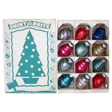 Box Shiny Brite Small Shapes Christmas Ornaments
