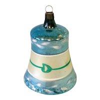 Blown Glass German Clapper Bell Christmas Ornament