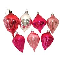 American Made 1930s Blown Glass Christmas Ornaments
