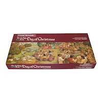 12th Day of Christmas Springbok Panoramic Puzzle Complete