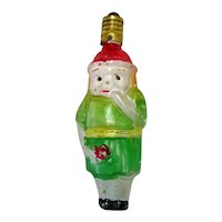 Girl with Flower Figural Clear Glass Christmas Light Bulb