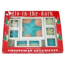 Box 1950s Glow In The Dark Plastic Christmas Ornaments