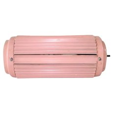 Pink Metal 1950s Louvered Bed Headboard Lamp