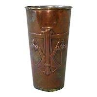 Art Nouveau Copper Vase