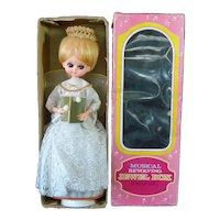 1960s Big Eyed Christmas Angel Doll Musical Jewelry Box