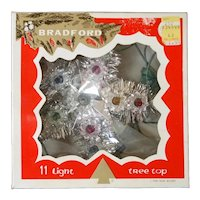 Bradford Lighted Tinsel Star Christmas Tree Topper in Box