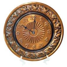 CopperCraft Guild Acorn Rim Solid Copper Wall Clock