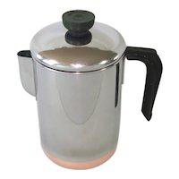 Revere Ware  8 Cup Drip-O-Later Coffee Pot Percolator