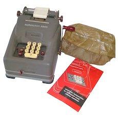Remington Rand 1940s Adding Machine With Manual