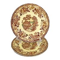 Alfred Meakin Multicolor Tonquin Dinner Plates Set of 3