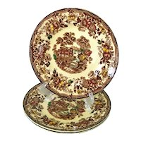 Alfred Meakin Multicolor Tonquin Bread Plates Set of 3