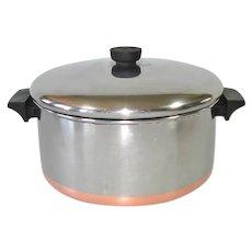 Revere Ware Copper Bottom 6 Quart Dutch Oven Stock Pot