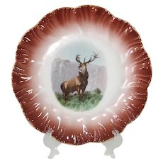 Mountain Stag 7.5 Inch Porcelain Plate, 6 Available